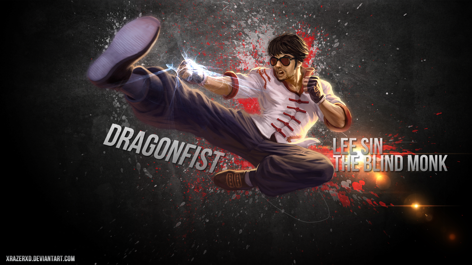 LoL - Dragon Fist Lee Sin | The Blind Monk WP by xRazerxD on
