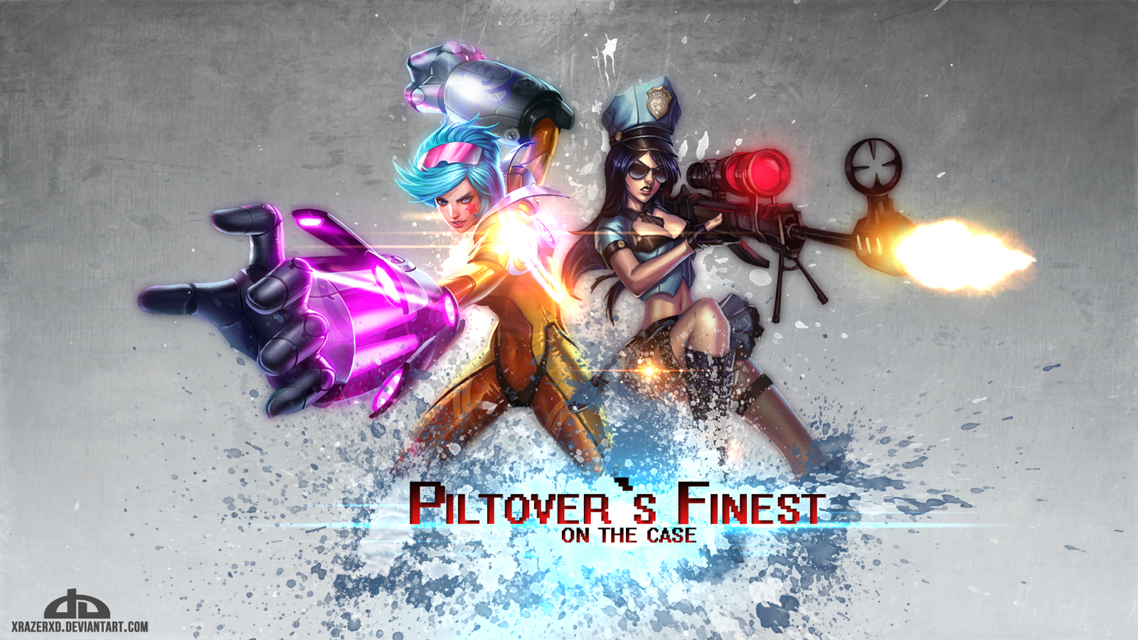 LoL - Piltover's Finest | Vi and Caitlyn WP by xRazerxD