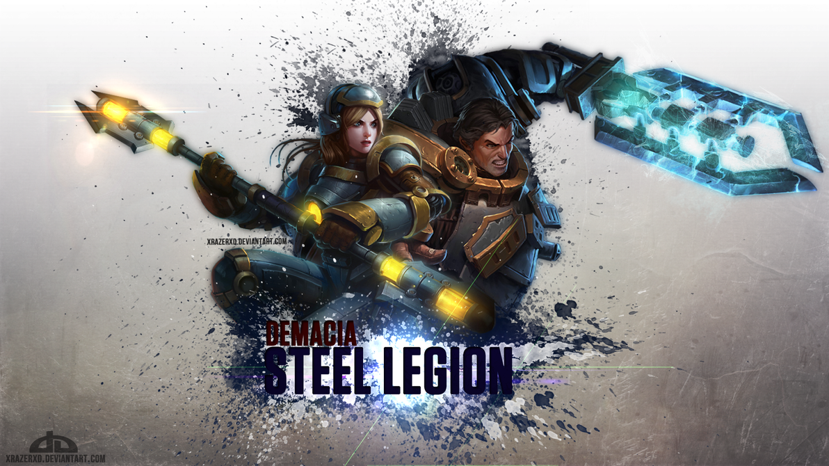 LoL - Demacia Steel Legion WP | Lux - Garen by xRazerxD