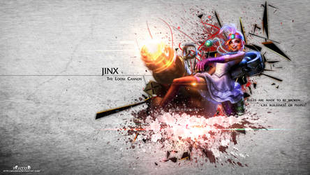 LoL - Mafia Jinx Wallpaper HD by xRazerxD