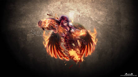 Shes a Dragon with Angel Wings. Iron Scale Shyv WP by xRazerxD