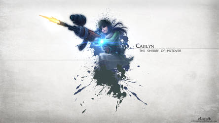 LoL - Warfare Caitlyn Wallpaper HD by xRazerxD