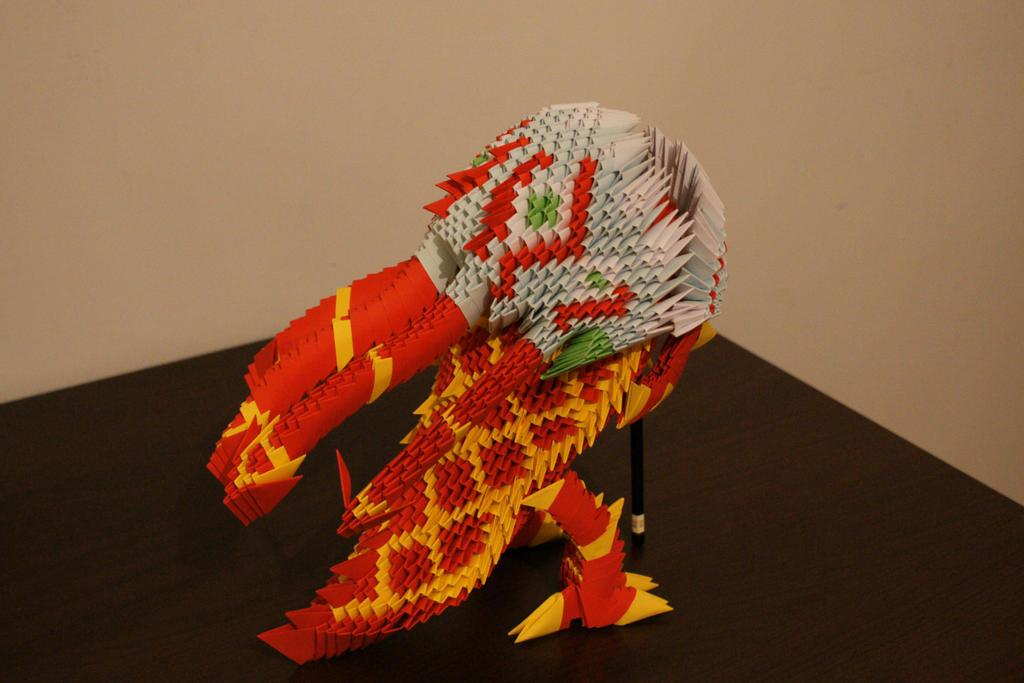 Origami Lion Dance Kog'Maw by frecmenta