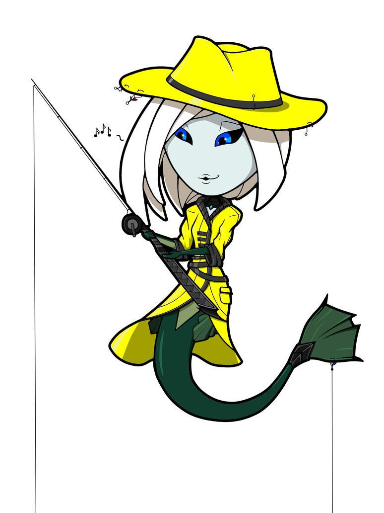 LoL Chibi: Fisherwoman Nami by frecmenta