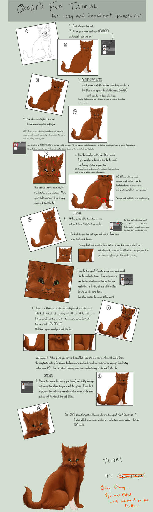 Lazy People Fur Tutorial by oxcat