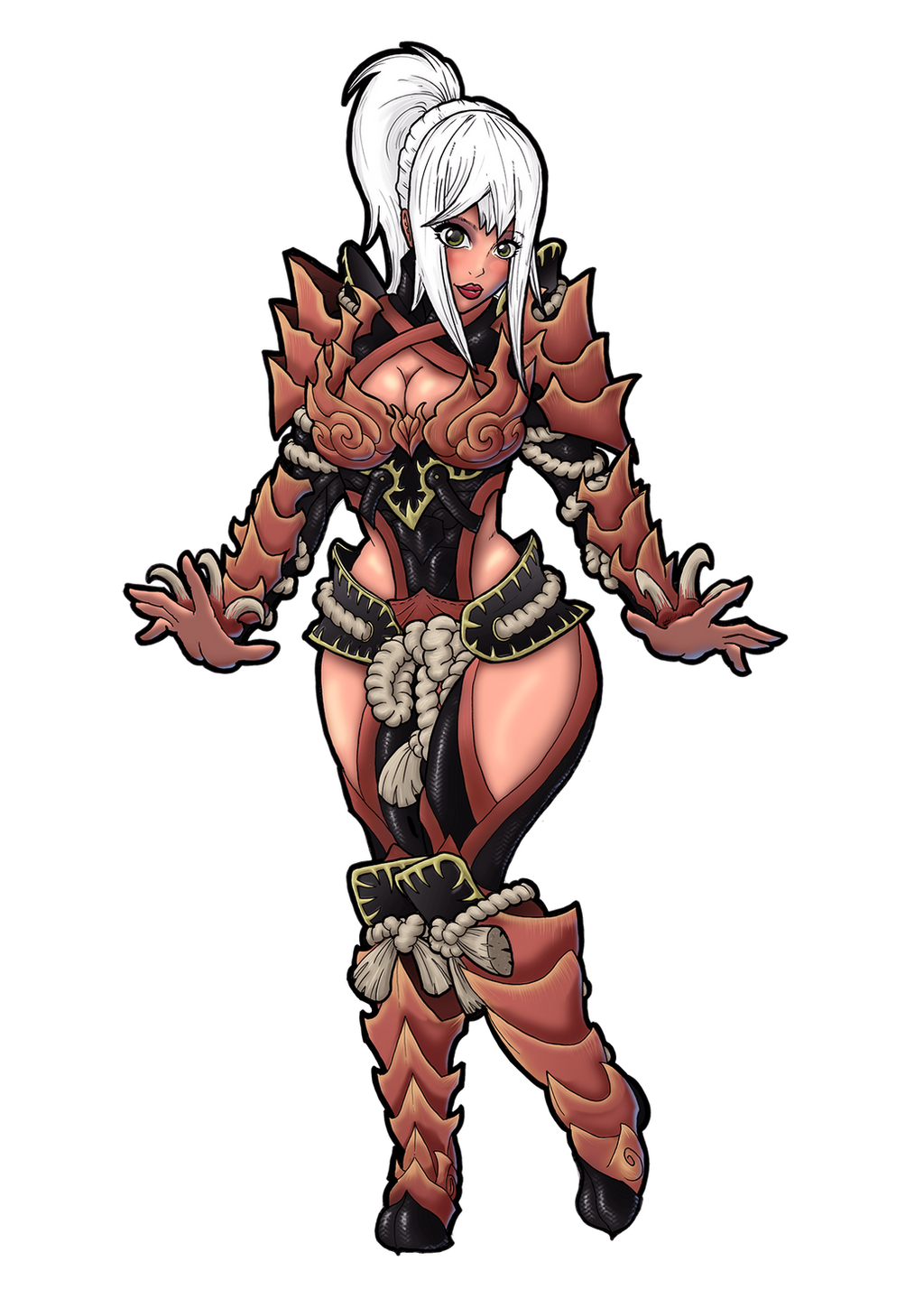 monster hunter world female armor art