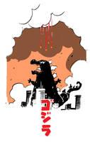 Godzilla by Fededraws