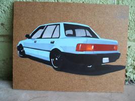 EF Civic Sedan Stencil by Wilheml