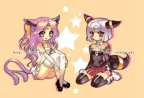 espeon + umbreon by einlee