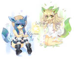glaceon + leafeon