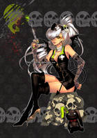 bones black nurse by einlee