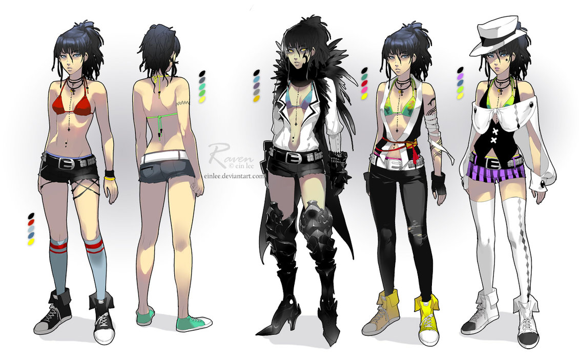 Character Design Dress Up Game : Raven costume designs by einlee on deviantart