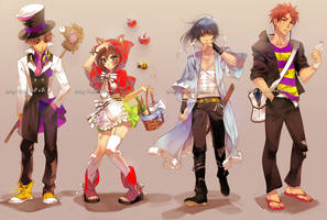 assorted costumes