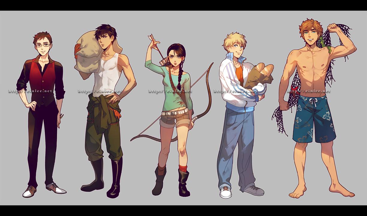 Hunger Games Fan Art Katniss And Peeta Hunger Games by einlee...