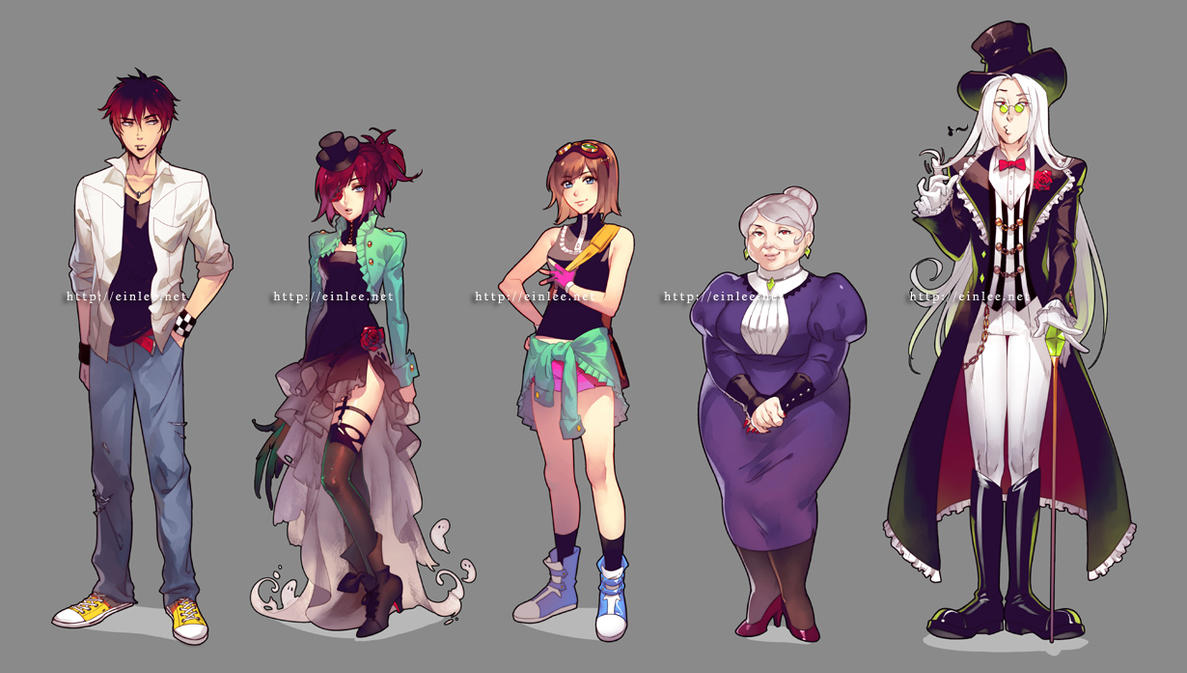 The Character Design : Rftd character designs by einlee on deviantart