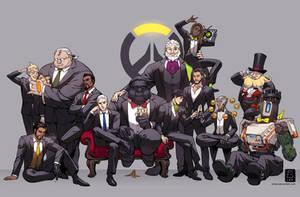Overwatch Suits by einlee