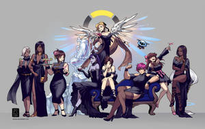 Overwatch Gowns by einlee
