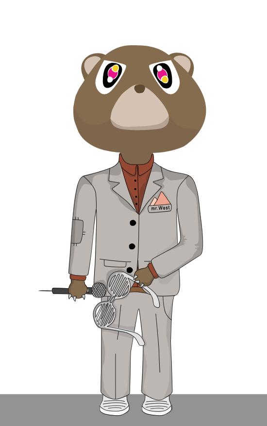 kanye west bear. Kanye West bear by ~KSAM16 on