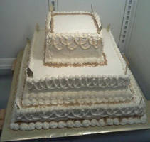 Gold Anniversary cake by greeneyes3675