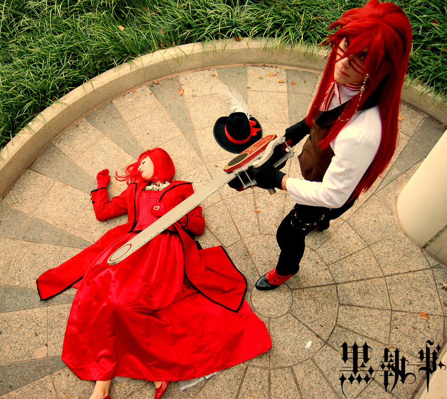 Shades of Red - Grell and Madam Red cosplay by CosAmour