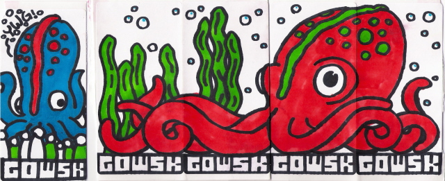Cephalopod stickers by gowsk