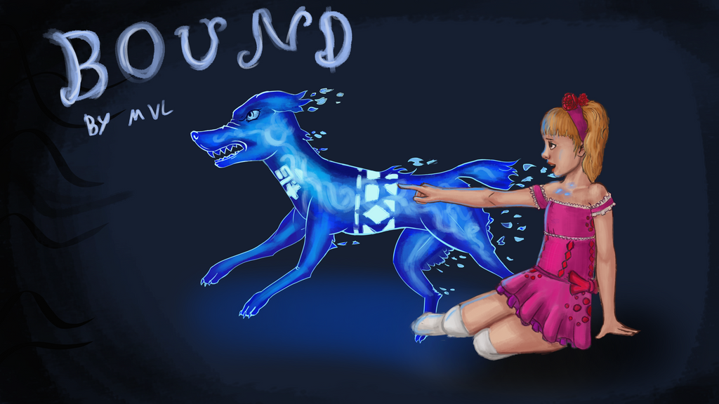 Girl With Ghost Dog + story in description by marnicqvl