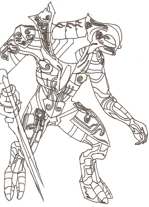 halo 2 covenant coloring pages - photo#19