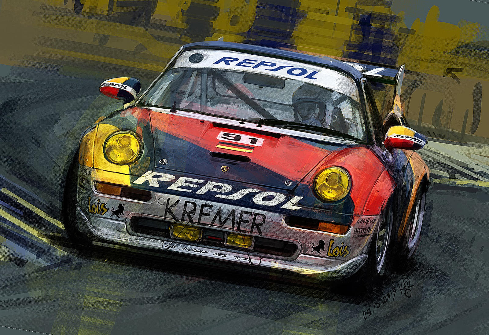 porsche 911 gt2 1995 le mans 2013 by ksr by rizov on deviantart. Black Bedroom Furniture Sets. Home Design Ideas
