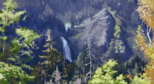 Study - Orpheus waterfall, Smolyan