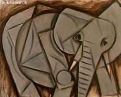 TOMMERVIK ELEPHANT PAINTING by TOMMERVIK