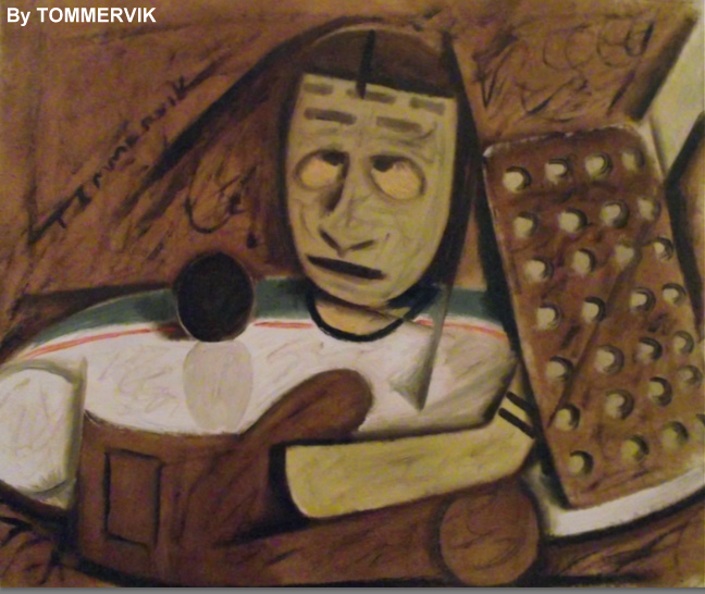 Abstract Hockey Goalie Painting By Tommervik On Deviantart