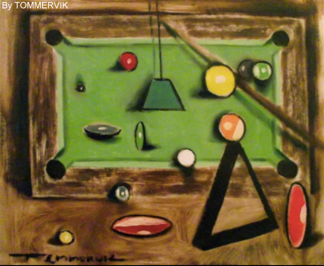Pool Table Painting By TOMMERVIK On DeviantArt - Pool table painting