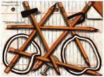 Orange Bicycle Painting
