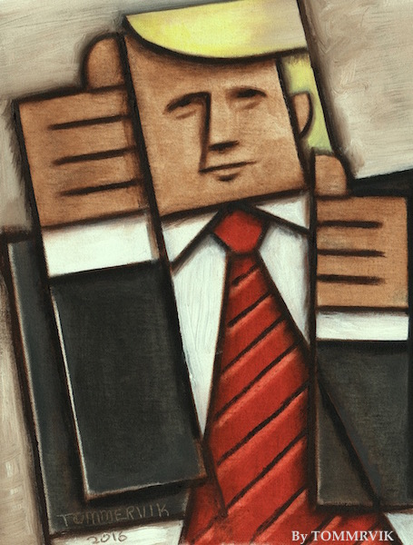 TOMMERVIK ABSTRACT DONALD TRUMP PAINTING by TOMMERVIK