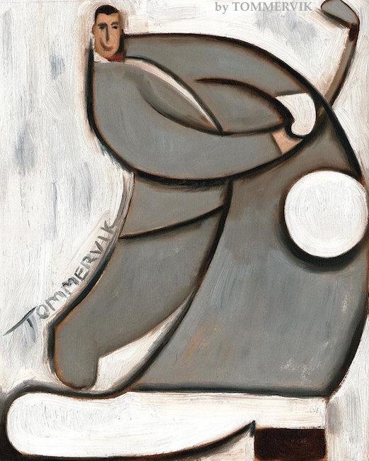 Pee-wee Herman Golf Swing Painting by TOMMERVIK