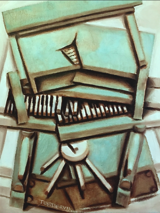 Abstract Upright Piano Painting by TOMMERVIK