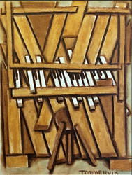 Abstract Piano Painting