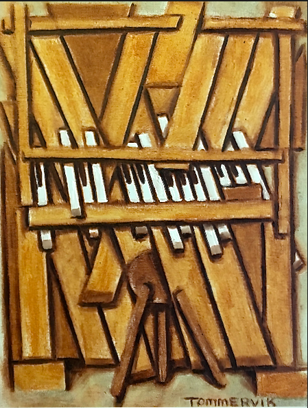 Abstract Piano Painting by TOMMERVIK