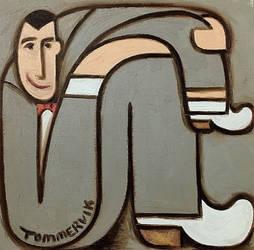 Tommervik Abstract Pee-wee Herman Painting by TOMMERVIK