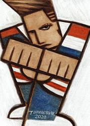 American Rapper Vanilla Ice Art Fist Bump Painting