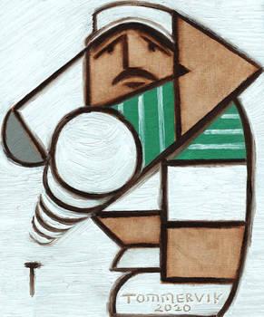 Golfing Wall Art Original Golf Swing Oil Painting