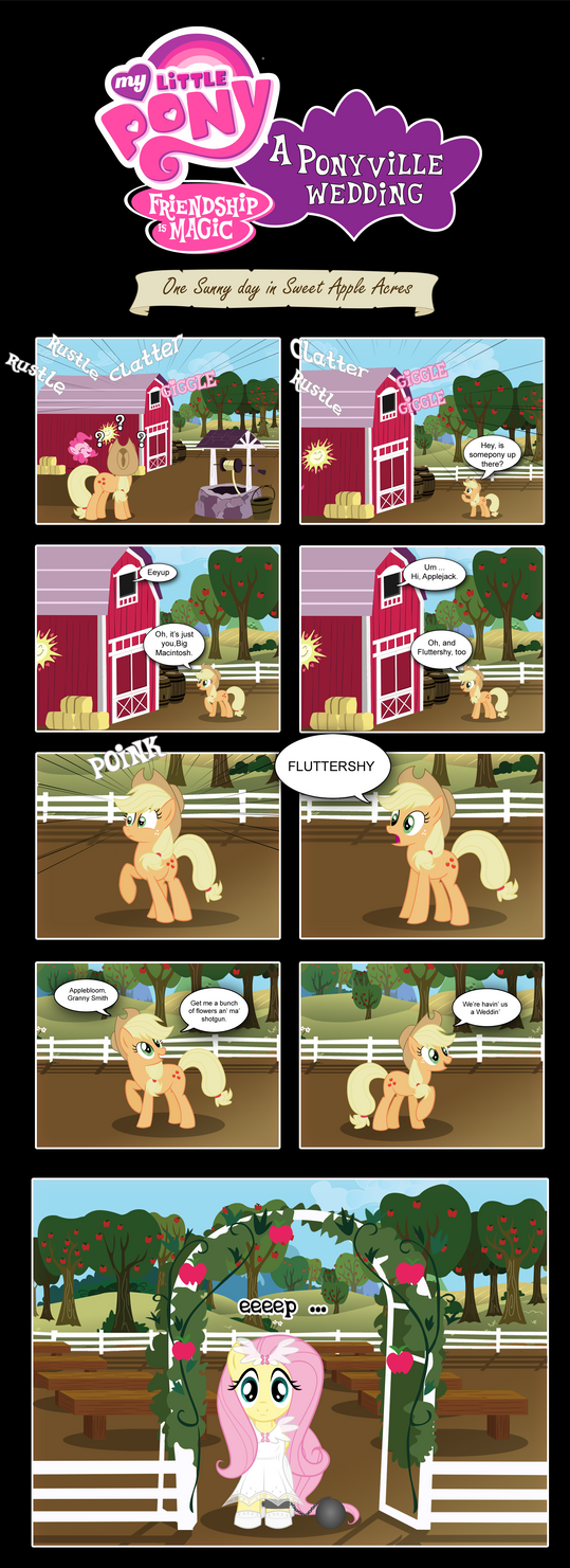 MLP: FIM - A Ponyville Wedding by PerfectBlue97