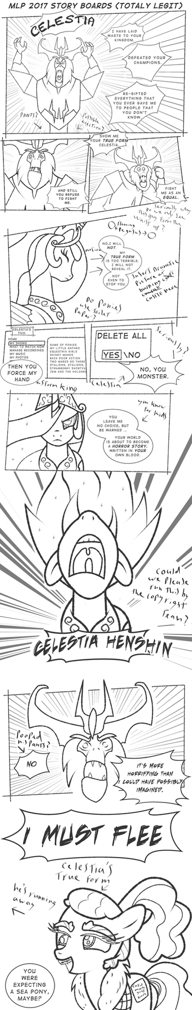 MLP Movie 2017 LEAKED STORY BOARDS (Totally Legit) by PerfectBlue97