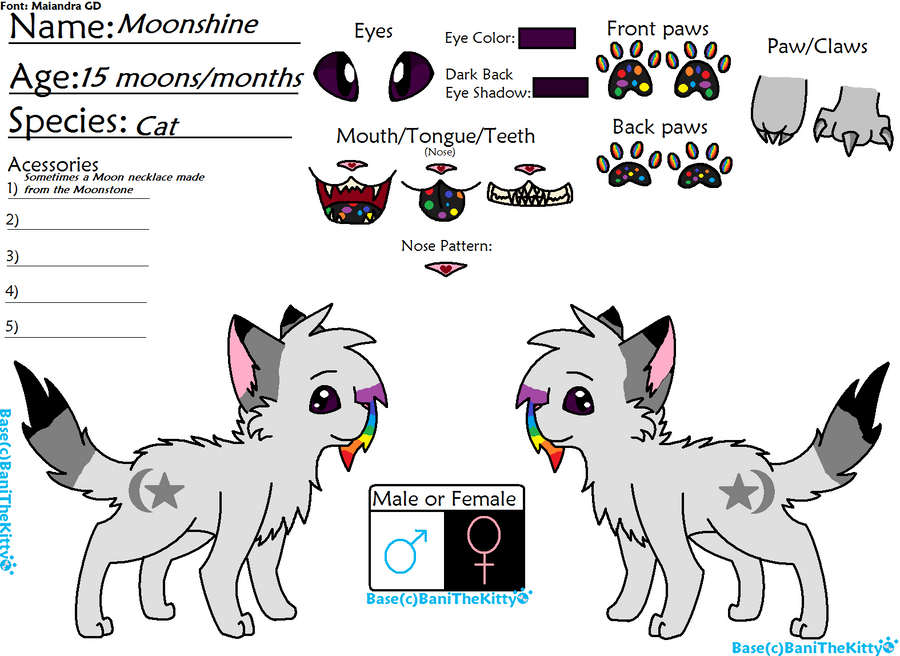 Moonshine's Ref by kass-the-kitten