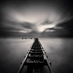 Old Pier At Dusk by DenisOlivier