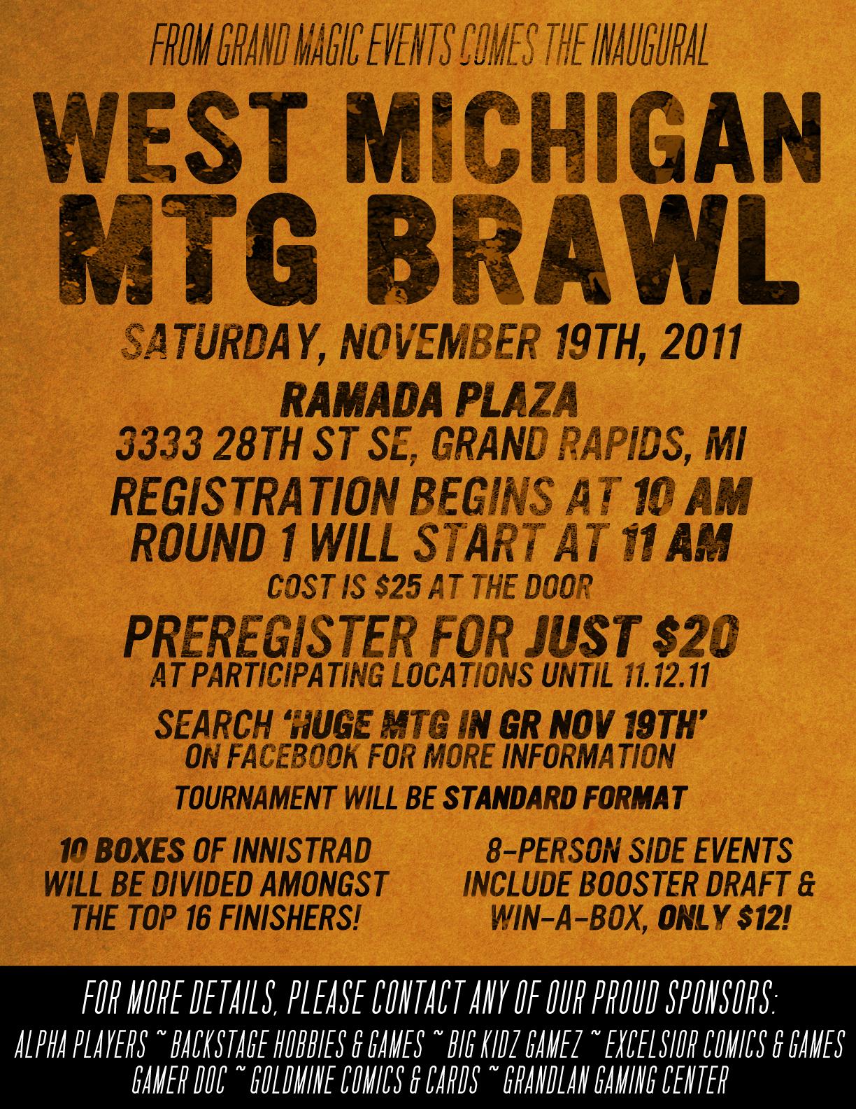 West Michigan M:TG Brawl Poster