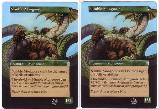 nimble mongoose - altered mtg