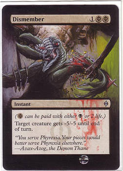Dismember (the goyf xD) - altered mtg
