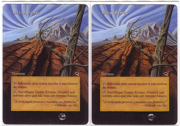 Wastelands - altered mtg