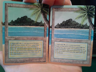 Tropical Island - 2x - altered mtg